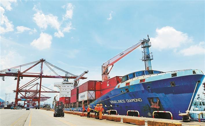 连通越南!大铲湾码头迎来亚洲区内新航线